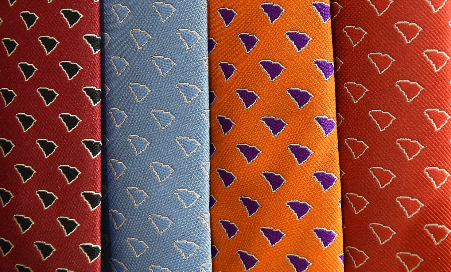 South Carolina Ties, Menswear, neckties, columbia, gifts