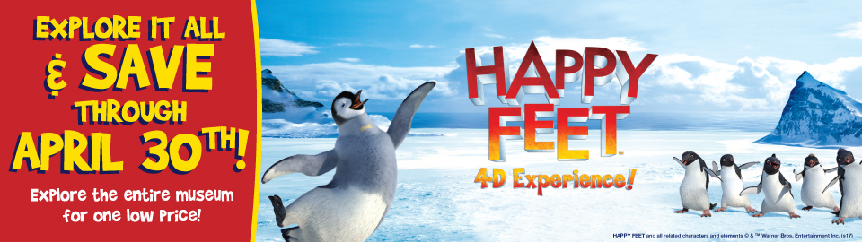 columbia sc, things to do, spring break, 4d theater, happy feet