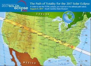 SOLAR ECLIPSE South Carolina State Museum - Us total eclipse 2017 map