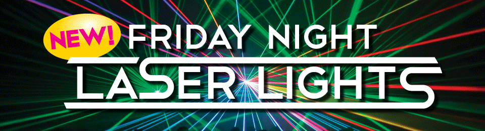 Friday Night Laser Lights Event Banner