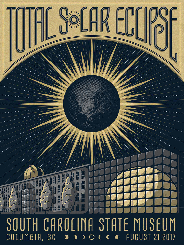 2017 Total Solar Eclipse Print Designed By The Half and Half