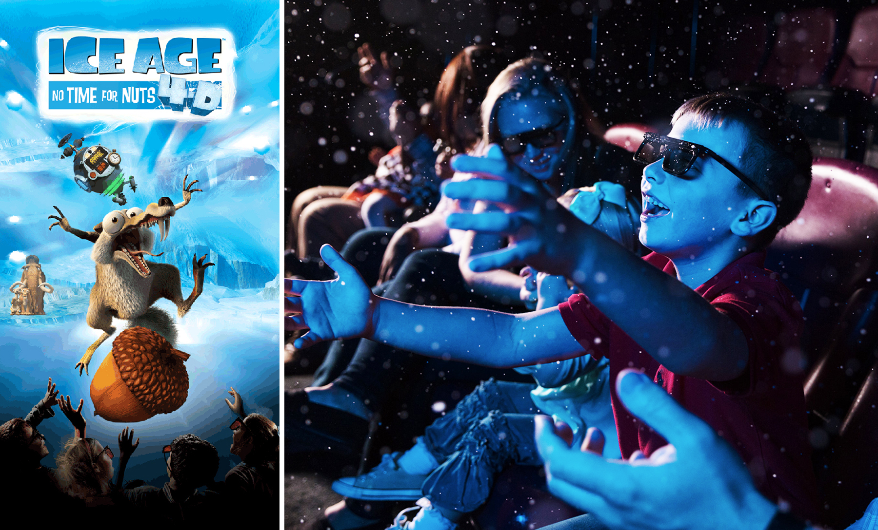 Memorial Day, Weekend, 4d theater, Ice Age No Yime For Nuts 4D, Columbia, Family, Things to Do