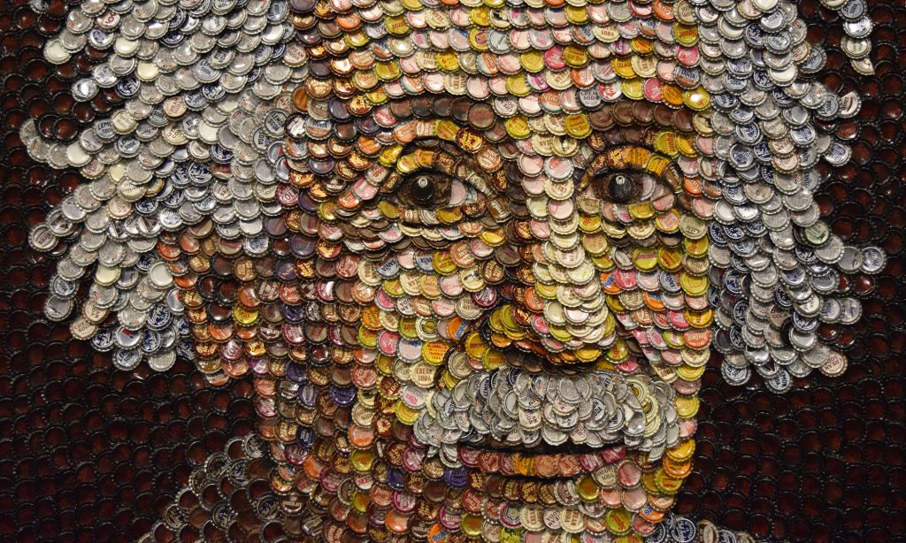 South Carolina State Museum, Molly B. Wright, Mosaic, Bottlecaps, Albert Einstein