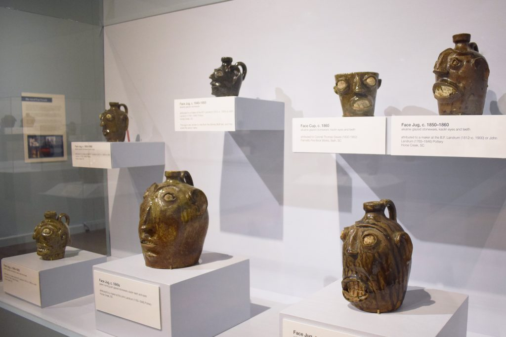 Face Vessel Gallery Image - Case with South Carolina Face Vessels