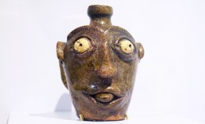 Face Vessel c 1840 to 1850 by Landrum Pottery in Horse Creek SC