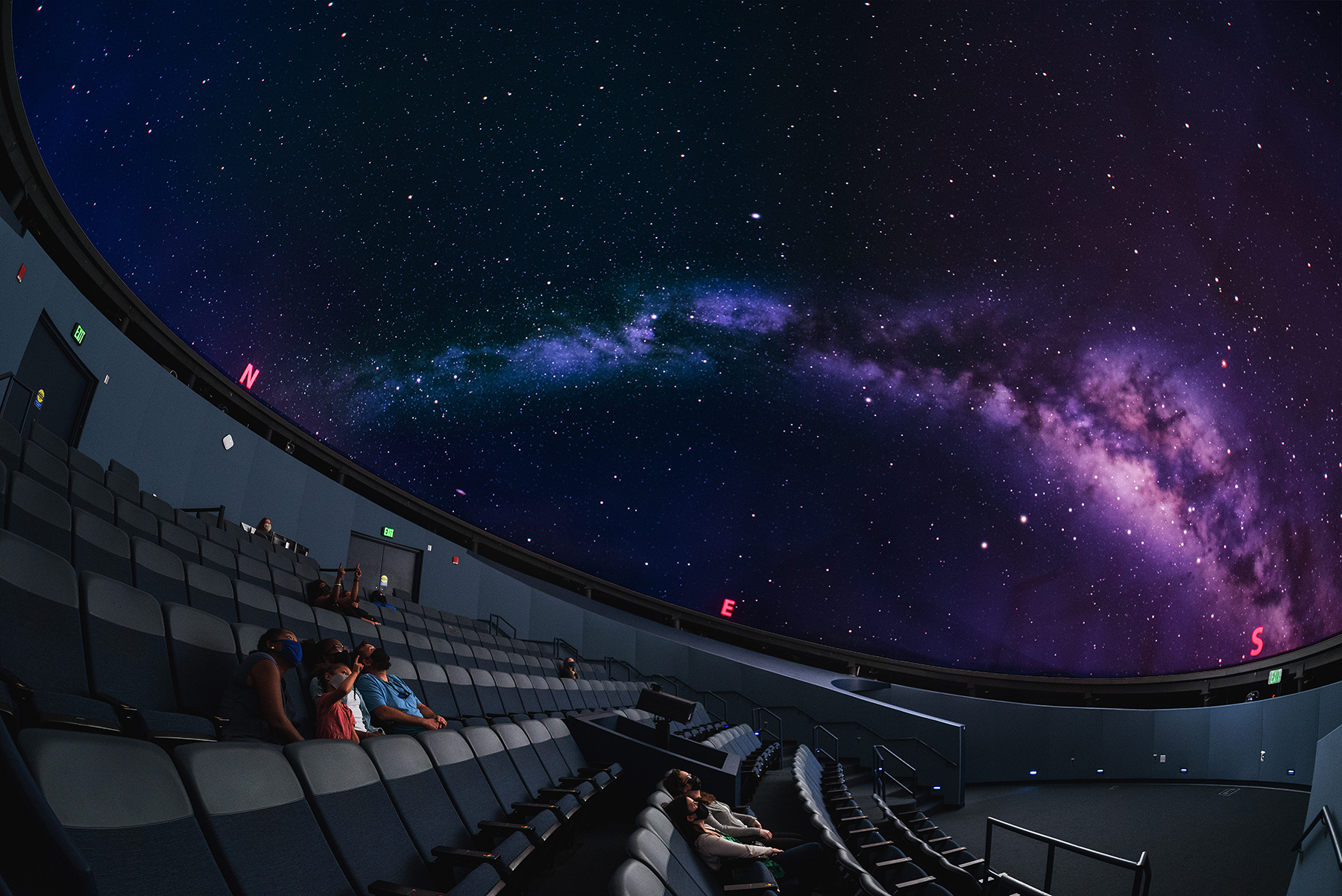 State Museum Planetarium with guests socially distanced